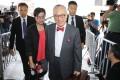 Former chief executive Donald Tsang Yam-kuen (centre), accompanied by his wife Selina Tsang, arrives at the High Court in Admiralty. Photo: Sam Tsang