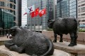 Hong Kong stocks closed higher for a second day running on Wednesday. Photo: Reuters