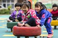 China's early childhood education market is set to reach 200 billion yuan this year, according to China Online Education Institute. Photo: Xinhua