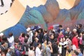 """Visitors line up to see """"A Panorama of Rivers and Mountains: Blue-Green Landscape Paintings from Across Chinese History"""" at the Palace Museum in Beijing. Photo: Simon Song"""
