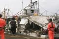 The missile ripped through the Hsiang Li Sheng fishing boat 40 nautical miles away, killing its captain Huang Wen-chung. Photo: Handout