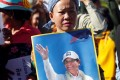 Supporters of Kem Sokha, jailed leader of the opposition Cambodia National Rescue Party, rally outside the country's Appeal Court. According to opposition lawmakers, a large number of CNRP members have fled the country fearing a crackdown on dissent by Prime Minister Hun Sen. Photo: Reuters