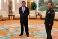 President Xi Jinping and General Fang Fenghui at the Great Hall of the People in Beijing in August 17. Photo: Reuters