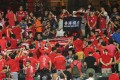 Hong Kong fans turn their back as the national anthem plays at Hong Kong Stadium. Photos: Dickson Lee