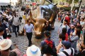 New York's iconic Charging Bull, often referred to as the Wall Street Bull. Photo: AFP