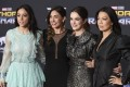 (From left) Chloe Bennet, Natalia Cordova-Buckley, Elizabeth Henstridge and Ming-Na Wen at the world premiere of Thor: Ragnarok at the El Capitan Theatre in Los Angeles on Tuesday. Photo: AP