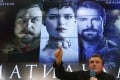 """Russian film director Alexei Uchitel speaks during a news conference, dedicated to the press screening of the film """"Matilda"""" in Moscow, Russia. Photo: Reuters"""