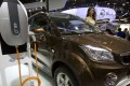 An e. Cool electric SUV by Chinese carmaker Changjiang on display at the Beijing International Automotive Exhibition in Beijing. China has stepped up pressure on carmakers to accelerate development of electric cars by raising the first-year target for a planned system of production quotas to be rolled out in 2019. Photo: AP