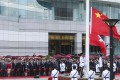 China's National Day flag-raising ceremony held at the Golden Bauhinia Square in Wan Chai. Photo: K.Y. Cheng