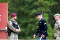 US Army Sergeant Bowe Bergdahl (centre) is escorted to the Fort Bragg military courthouse in North Carolina following a lunch recess after pleading guilty to desertion and misbehaviour before the enemy on Monday. Photo: AFP