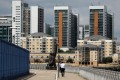 View of residential flats in London, where home values declined 2.7 per cent in September from a year earlier. Photo: Bloomberg