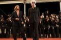 Iggy Pop (left) and Jim Jarmusch at the red carpet event for Gimme Danger at the 2016 Cannes Film Festival.