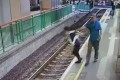 The incident was captured on CCTV footage that has since gone viral. Photo: Facebook
