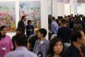 Visitors to Art Basel Hong Kong 2017 at the Hong Kong Convention and Exhibition Centre in Wan Chai. Photo: Nora Tam