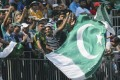 Pakistan fans cheer on their team during the first day of the Hong Kong World Sixes at Kowloon Cricket Club. Photo: Edward Wong
