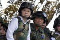 Taiwan President Tsai Ing-wen, pictured at a military exercise earlier this year, said she understood that the island needed to spend more on defence. Photo: AFP