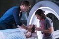 From left: James Norton, Ellen Page and Diego Luna in a still from Flatliners (category IIB), directed by Niels Arden Oplev.