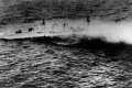 The Royal Navy heavy cruiser HMS Exeter sinking during an operation in the Java Sea on 1 March 1942. The shipwreck has been plundered by scavengers. Photo: US Naval History and Heritage Command