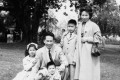 Amy Tan with her parents and brothers, Peter and John, in 1959. Picture: courtesy of Amy Tan