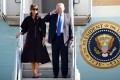 US President Donald Trump and his wife Melania are due to arrive in Beijing on Wednesday. Photo: Reuters