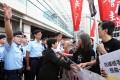 League of Social Democrats protesters in Wan Chai. Photo: Felix Wong