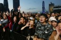 Crowds revelling in the music at the opening night of the Clockenflap festival. Photo: SCMP