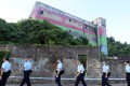 Police carry out a search at the former ATV film studios in Sai Kung in 2015. Photo: Sam Tsang