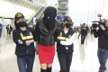 The 19-year-old model was arrested at Hong Kong International Airport on Monday. Photo: Handout