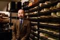 Japanese master shoemaker Yohei Fukuda in his workshop in Tokyo. Photo: AFP