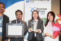 The Malaysian team of (from left) Associate Professor Dr Vengadesh Periasamy, Muhammad Musoddiq Jaafar, Professor Phang and Dr Ng Fong Lee at the Newton Prize 2017 presentation ceremony. Photo: The Star
