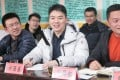 The founder of JD.com Richard Liu (centre) became the honorary head of Pingshitou village in Hebei province. Photo: Handout
