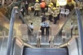 Police officers investigating the accident after an escalator malfunctioned while people were on it in Langham Place, Mong Kok, on March 25. Photo: Felix Wong