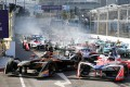 Formula E cars competed in Hong Kong this weekend. Photo: Edward Wong