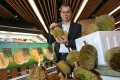 Nicholas Ng, the manager of Mali House, a company that sells durians at Sogo in Causeway Bay. Photo: David Wong