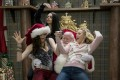 (From left) Kathryn Hahn, Mila Kunis, a happy Santa Claus and Kristen Bell in Bad Moms 2 (category: IIB), directed by Jon Lucas and Scott Moore. Photo: STX Entertainment