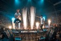 American dance music duo The Chainsmokers performing live.