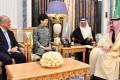 Carrie Lam meets Saudi Arabia's King Salman in Riyadh. Photo: Facebook