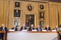 Nobel laureates hold a press conference at the Royal Swedish Academy of Sciences in Stockholm, Sweden. Photo: Xinhua