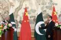 Chinese Foreign Minister Wang Yi with Pakistani counterpart Khawaja Muhammad Asif in Beijing. Photo: EPA