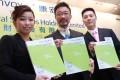 (L-R) Vice-chairman Rosetta Fong Sut-sam, chairman Quincy Wong Lee-man and former chief executive Mark Mak Kwong-yiu. Photo: May Tse