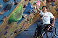Wheelchair-bound rock climber Lai Chi-wai is the only Chinese nominee in his category. Photo: Nora Tam