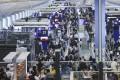 Passengers waiting at the Hong Kong International Airport in Chek Lap Kok. Photo: Dickson Lee