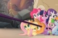 Princess Twilight Sparkle (centre, top), voiced by Tara Strong, and her friends from Canterlot in My Little Pony: The Movie (category I), directed by Jayson Thiessen. Photo: Lionsgate