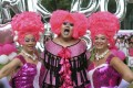 """Participants dress up for the annual """"Pink Dot"""" event in Singapore in 2015. The rally has been held every year since 2009 in support of LGBT rights. Photo: AFP"""