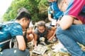 Kids of all ages learn more about the different species of insects that live in Tai Tam Tuk, Hong Kong, during the 2017 BioBlitz last month.