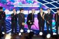Korean boy band EXO at the 2017 MAMA.