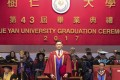 Andy Lau, 56, was awarded a doctor of letters, honoris causa, from Shue Yan University in North Point, his first from an institution in the city. Photo: Handout