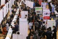 Jobseekers attend a careers fair at Zhengzhou University in Henan province last month. Photo: Reuters