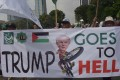 Indonesians march against US President Donald Trump's recent decision to recognise Jerusalem as the capital city of Israel, outside the US embassy in Jakarta. Photo: AFP