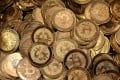A pile of bitcoin tokens. The virtual currency has started trading on its second major exchange in a week with the launch of futures contracts on the CME. Photo: Getty Images